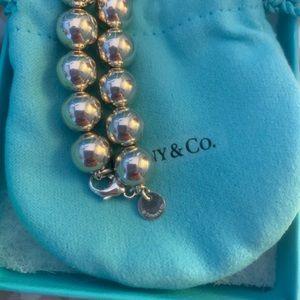 Tiffany silver ball bracelet. Never worn.